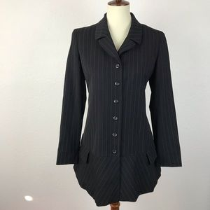 Kenzo Paris Striped Fitted Lined Jacket JKT199